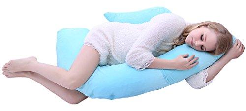 ChenHang Blue Pregnancy Pillow F-Shape Maternity Pillow Soft