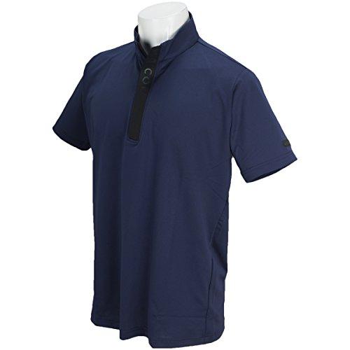 ブリヂストン TOUR B ULTICORE 半袖シャツ?ポロシャツ ストレッチ 半袖3D解析ジップシャツ ネイビー M