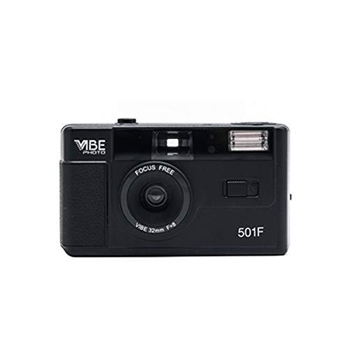 Riiai Vibe Photo 35mm Film Camera 501F – Gratis Pouch inbegrepen – Zwart