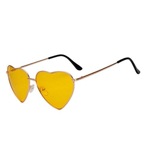 Plata Mirrorro De Gafas Sexy Gold G397 Corazón Forma Amor Sol Lens Aleación Vintage Calidad Señoras Gradiente De Gafas De Mujer De Marco En Sol TIANLIANG04 Yellow Oro Corazón Alta De Tonos x0wfFEq7pf