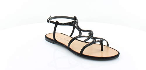Chinese Laundry Womens Gianna Open Toe Casual Ankle Strap, Black, Size 8.5