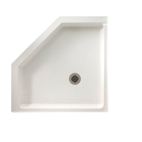 (Swanstone SS-36NEO-011 Solid Surface Neo-angle Shower Base, 36