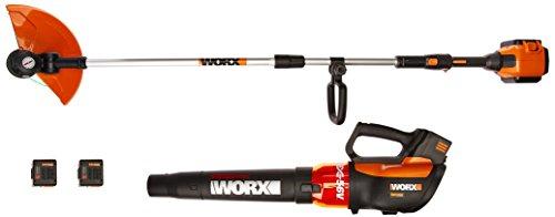 Worx WG926 Turbine 56V 13' Cordless String Trimmer/Edger & Leaf Blower Combo Kit