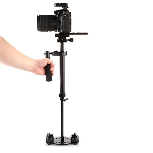 FOTOWELT Hand Stetig Kamera Stabiliser Pro Version für Nikon Canon Sony Panasonic - Gewicht Capability Bearing 0,5-3kg/6.61Ib