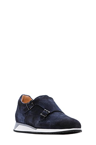 Santoni Mannen Sneaker Blauw Blauw