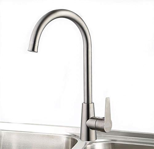 SYW 304 Stainless Steel Kitchen Faucet Cold and hot Water revolving Single Handle Basin Sink Faucet.
