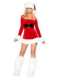 ManorGirl Women's Sexy Lingerie Christmas Costume Cosplay Dance Dress