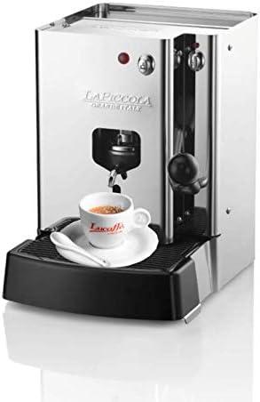 LUCAFFÈ La Piccola Sara Classic, cafetera para vainas E.S.E. cafetera de cápsulas de café, acero inoxidable 30.5x21x29, bajo consumo, alta calidad, Made in Italy + 300 cápsulas Lucaffè de 44 mm: Amazon.es: Hogar