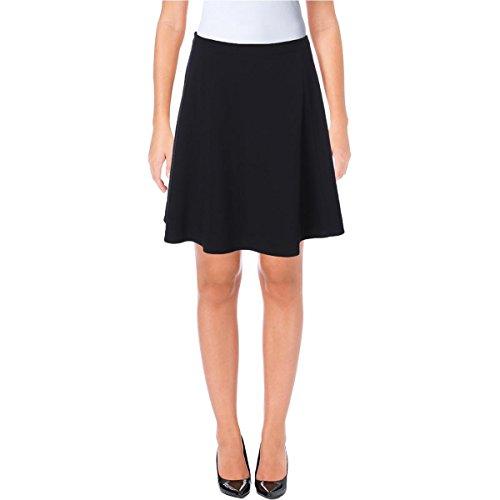 Tahari ASL Womens Petites A Line Lined Mini Skirt Navy 4P