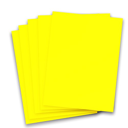 (Rozzy Crafts Neon Yellow Heat Transfer Vinyl PU - 5 Sheets Each 10 in x 12 in HTV for Cricut and Silhouette)