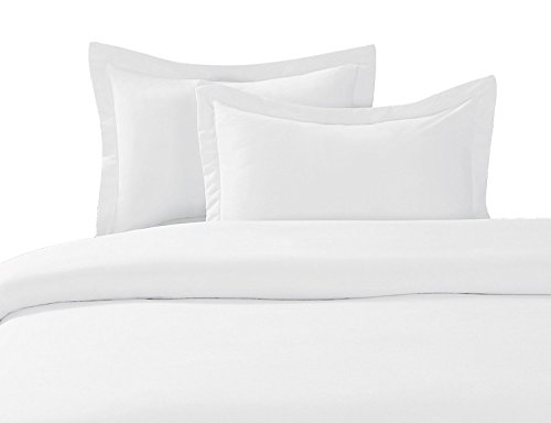 Royal Tradition Solid 300-Thread-Count, 100-Percent Cotton Full/Queen, 3PC Duvet Cover Set with Buttons Enclosure, White                      (And Duvet Beyond Sets Bed Bath Cover)