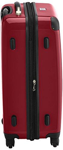 HAUPTSTADTKOFFER - Alex - 2er Koffer-Set Hartschale glänzend, 65 cm, 74 Liter, Graphit-Gelb Rot-cyanblau