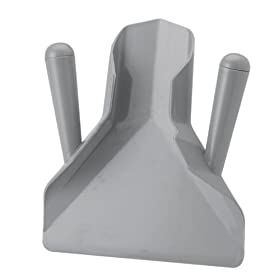 Royal Industries 2 Handle French Fry Scoop, Plastic, Gray