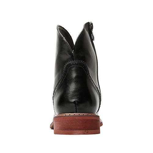 Da Claret Retro color Martin Antiscivolo Ju sheng Eu Dimensione Red Uomo Popolare Stivali Casual Boots Cerniera Nero 42 Laterale Trend Suola Semplice qxES4a