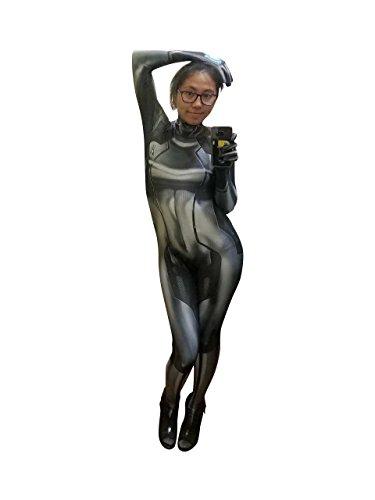 Aesthetic Cosplay's Black Zero Suit Samus Black Cosplay Costume Samus Aran Bodysuit M