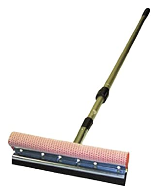 "Carrand Hopkins 9500 Scrub-N Squeegee 10"" Metal Head with Extension Pole"
