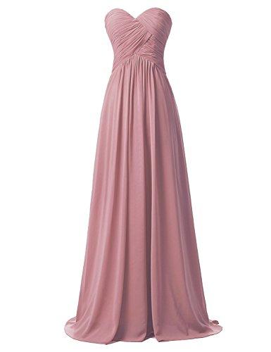 Sarahbridal Juniors Prom Dresses Long 2019 Chiffon Sweetheart Bridesmaid Ball Gowns US2