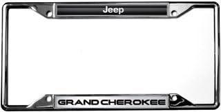 Jeep Grand Cherokeel Chrome PLASTIC  License Plate Frame