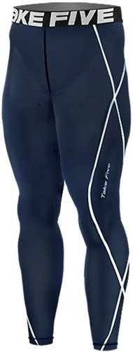 New 018 Take Five Skin Tights Compression Leggings Base Layer Navy Running Pants Mens S - 2xl