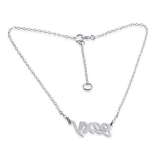 Script Words Sexy Charm Pendant Anklet