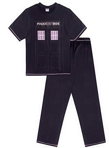 L Fan M Box I Da Police Navy Lungo Uomo Xl Di Adatto Blu Doctor Who Pigiama Per HwyvqZBy