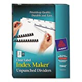 Index Maker Clear Label Unpunched Divider, 3-Tab, Letter, White, 25 Sets By: Avery