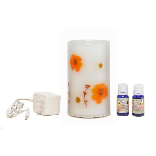 CandleTEK Décor Aroma Therapy Flameless Candle, Marigold (Shaded Candle)