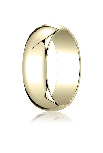Mens 14K Yellow Gold, 7.0mm Tr