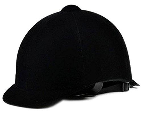 Kangkang@ Black Equestrian Helmet Breathable Suede Helmet With A Helmet Bag (Helmet Suede)