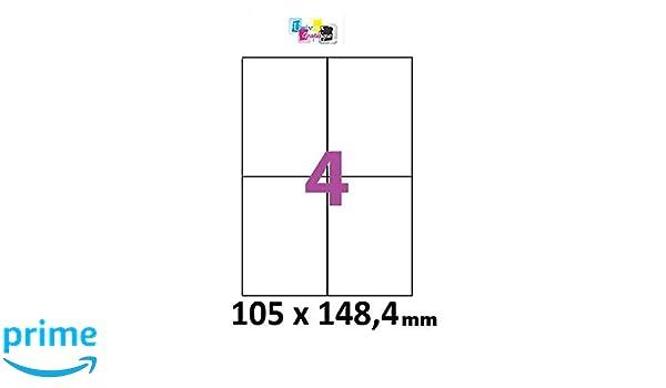 hoja de etiquetas 500 4 adhesivo 105 x 148,5 impresora de ...