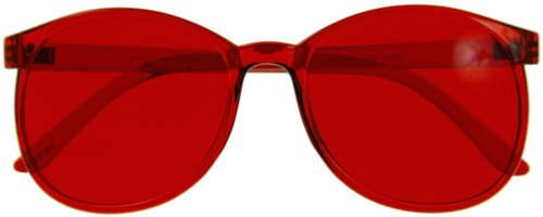Color Therapy Glasses Round Style Set of 7 Colors [Also Available in Set of 9]