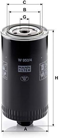 Original Mann Filter Ölfilter W 950 4 Für Pkw Und Nutzfahrzeuge Auto