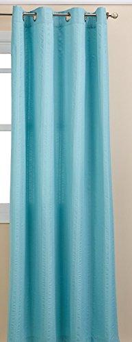 LORRAINE HOME FASHIONS Seersucker Textured Grommet Window Cu