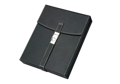 Prestige Import Group - The Florence Leather Travel Cigar Humidor Case - Color: Black