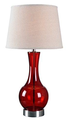 Kenroy Home Decanter Table Lamp, Red/Cream