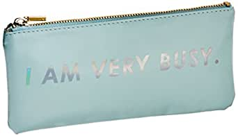 Ban.do Get It Together Pencil Pouch I Am Very Busy Ice Blue