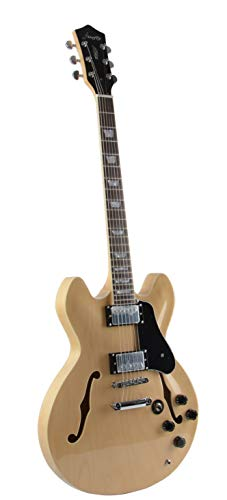 Firefly FF338 Semi Hollowbody Guitar (Natural).
