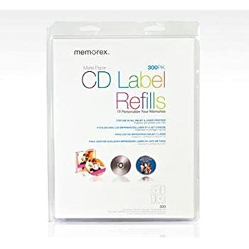AmazonCom  Memorex White Cd Labels Matte Finish  Count