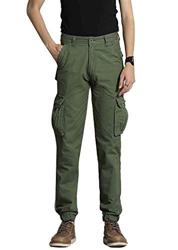 Autunno Casual Jogging grün Uomo Cargo Chino Tasche Skinny Da Pantaloni Armee Primavera Huixin Multiple Lavoro RwZx0X0q