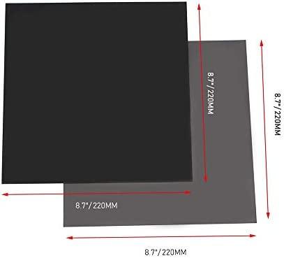 FYSETC - Plataforma de cama climatizada para impresora 3D, 8.7 x 8.7 pulgadas, superficie de construcción cama caliente magnética 2 en 1 con placa de ...