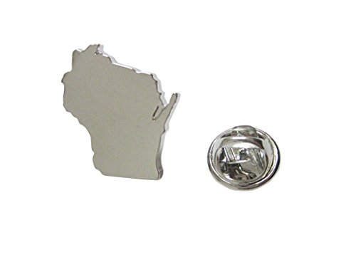 (Wisconsin State Map Shape Lapel Pin)