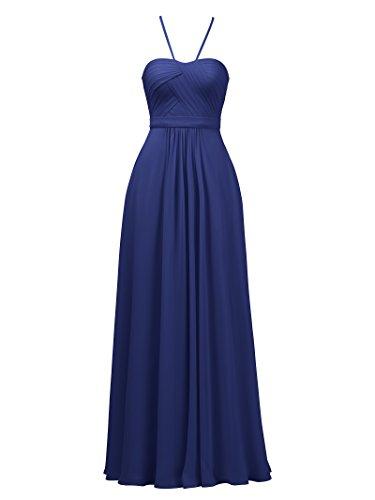 Alicepub Robes De Demoiselle D'honneur D'une Ligne Bretelles Spaghetti Robe De Bal De Soirée Élégante Bleu Royal