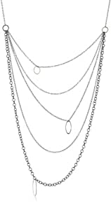 """Melissa Joy Manning """"Mixed Metal"""" Multi Chain Necklace"""