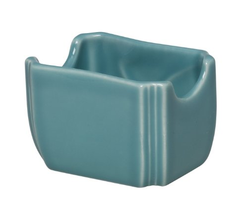 Fiesta 3-1/2-Inch by 2-3/8-Inch Sugar Packet Caddy, Turquoise
