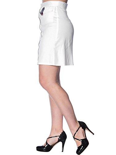 Para Trapecio Mujer Dancing Corte Days Blanco O Falda Liso En A 4P8PqHx