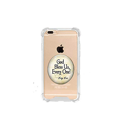 God Bless Us Every One - Tiny Tim Quote - A Christmas Carol Jewelry - Tiny Tim Pendant - Christmas Carol Quote - Scroog, 3D Printed Soft Clear Cute Ultra Slim Case Unique Customized Gift,Everyday Gift -