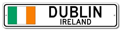 Dublin, Ireland - Irish Flag Street Sign - Aluminum 4