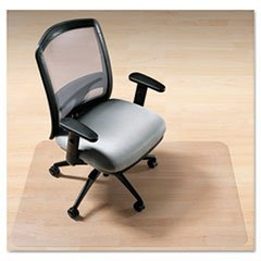 deflecto CM2G442FPET EnvironMat Recycled Anytime Use Chair Mat for Hard Floor 46 x 60 Clear