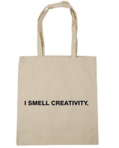 HippoWarehouse I olor creatividad Tote Compras Bolsa de playa 42cm x38cm, 10litros Natural
