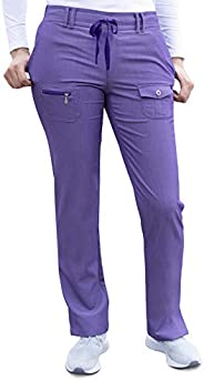 Adar Pro Heather Scrubs for Women - Slim Fit Tapered Scrub Pants
